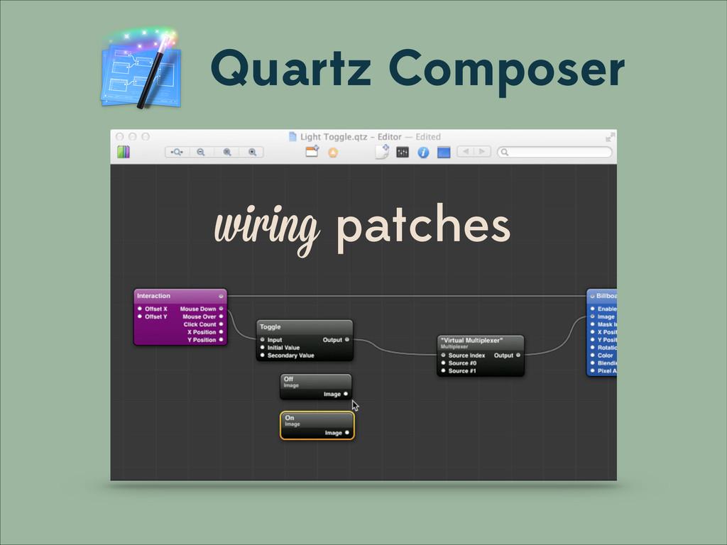 wiring patches Quartz Composer