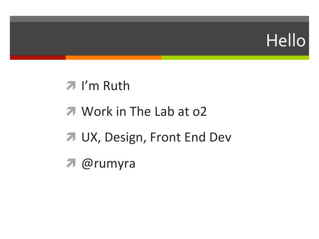 Hello  ì I'm Ruth  ì Work in ...