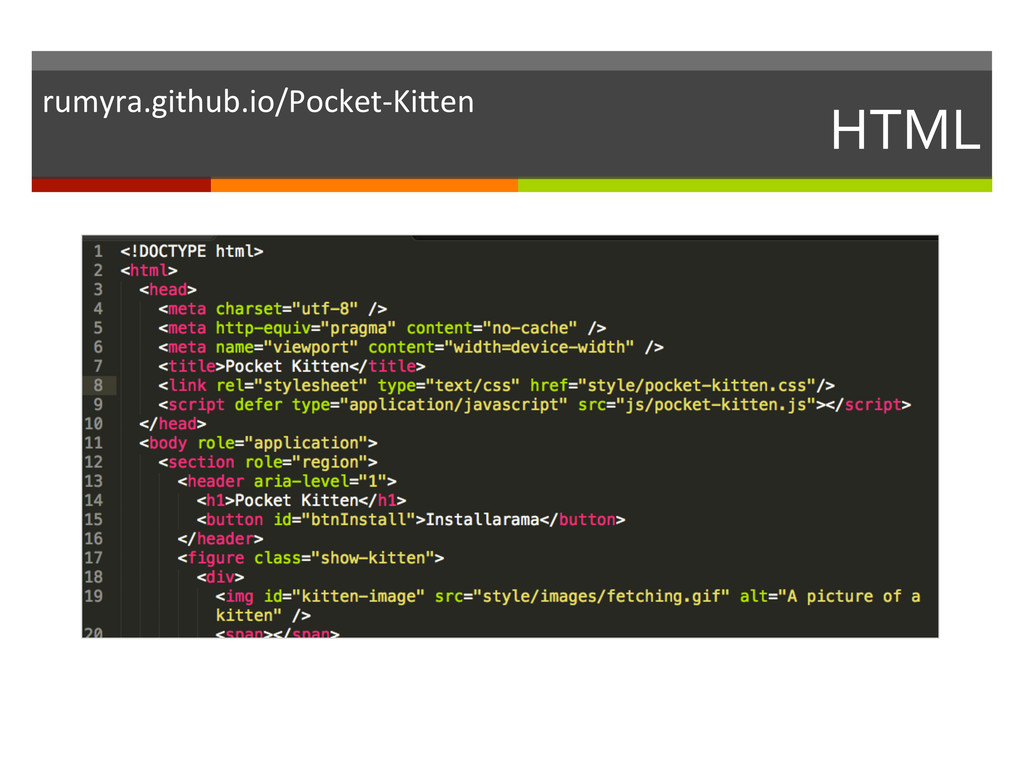 HTML  rumyra.github.io/Pocket-‐KiKen