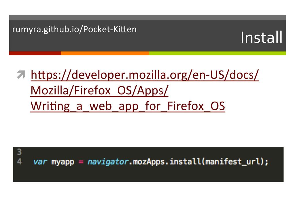 Install  ì hKps://developer.mozilla.org/en...