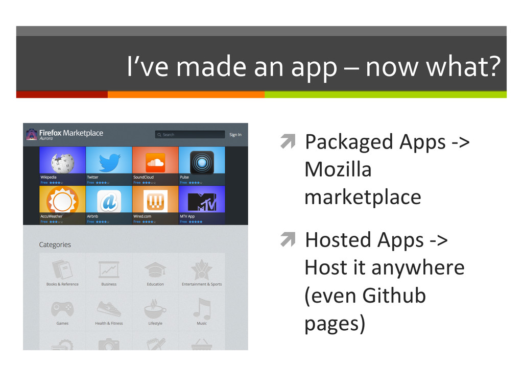 I've made an app – now what?...