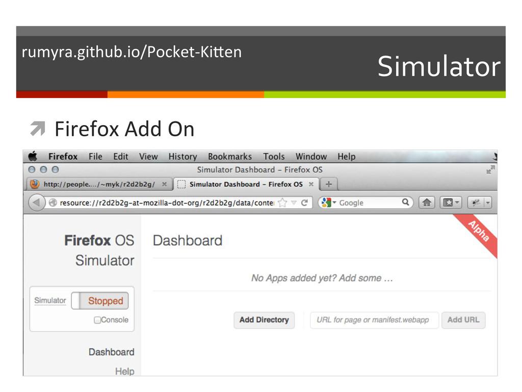 Simulator  ì Firefox Add On  rumy...
