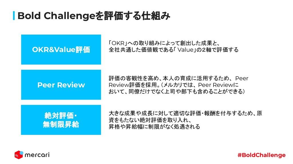 #BoldChallenge Bold Challengeを評価する仕組み OKR&Value...