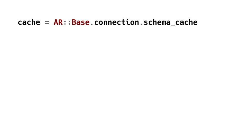 cache = AR::Base.connection.schema_cache