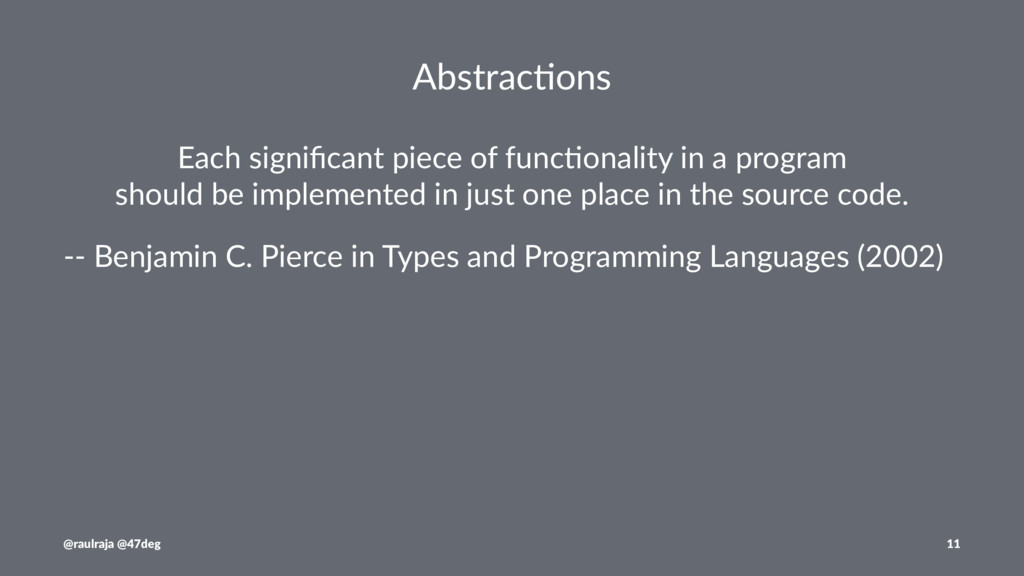 Abstrac(ons Each significant piece of func1onali...