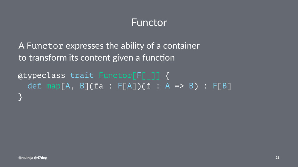 Functor A Functor expresses the ability of a co...