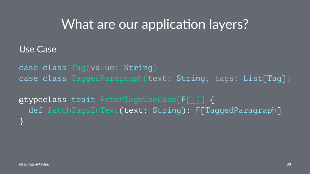 What are our applica.on layers? Use Case case c...