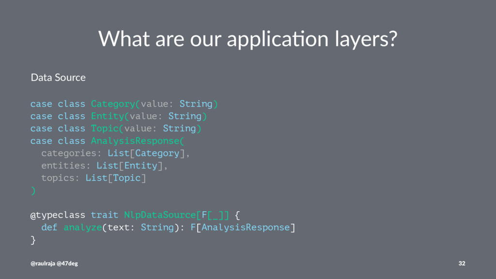 What are our applica.on layers? Data Source cas...