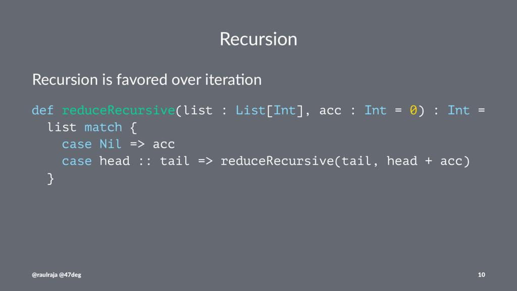 Recursion Recursion is favored over itera0on de...