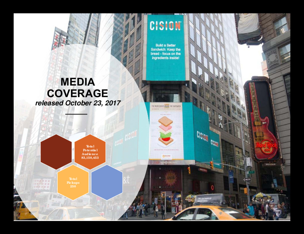 MEDIA COVERAGE released October 23, 2017 Total ...