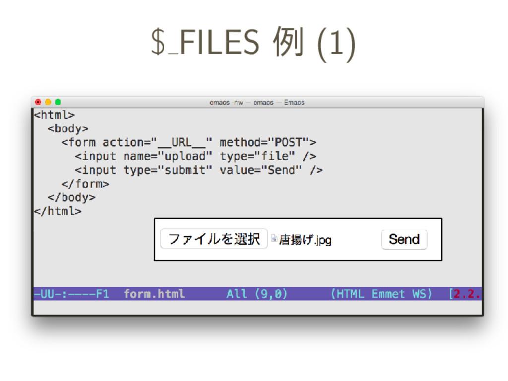 $ FILES 例 (1)