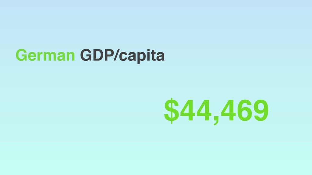 German GDP/capita $44,469