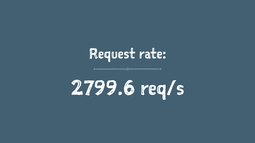 Request rate: 2799.6 req/s