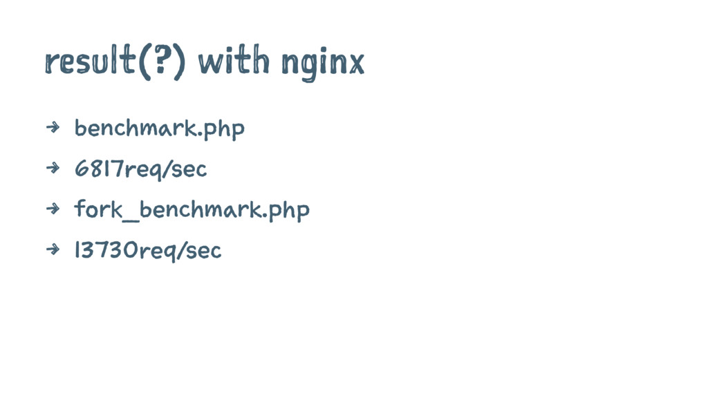 result(?) with nginx 4 benchmark.php 4 6817req/...
