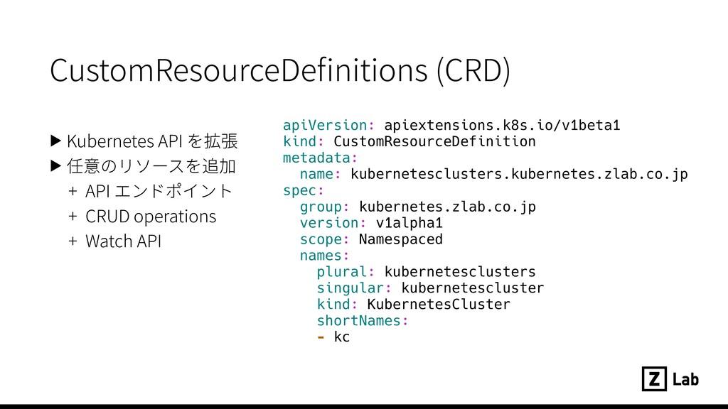 CustomResourceDefinitions (CRD) ▶ Kubernetes API...