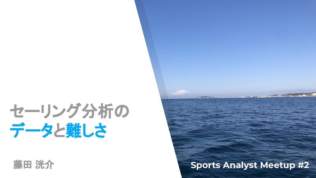 セーリング分析の データと難しさ Sports Analyst Meetup #2 藤田 洸介