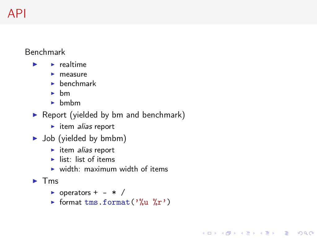 API Benchmark realtime measure benchmark bm bmb...