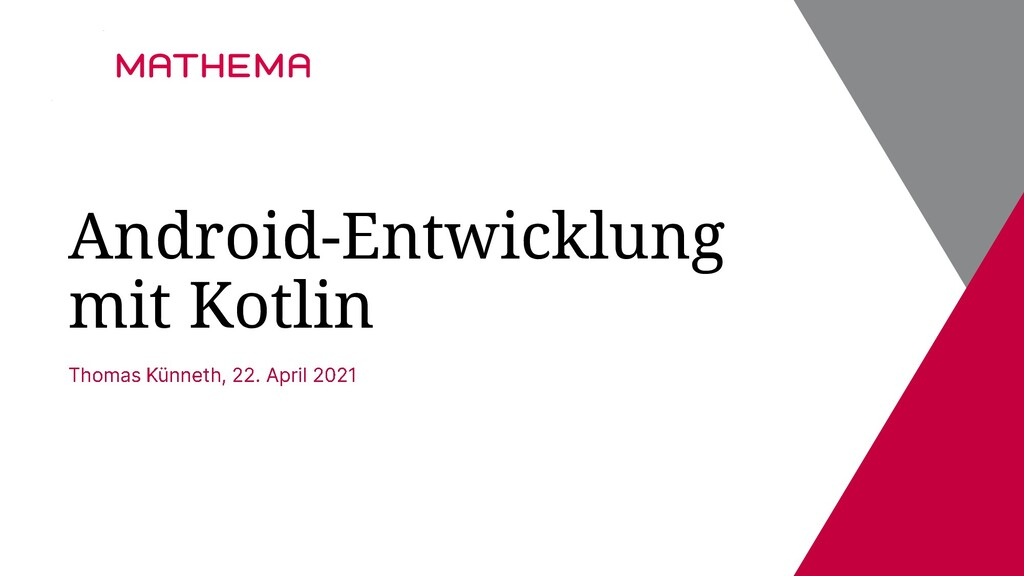 Android-Entwicklung mit Kotlin