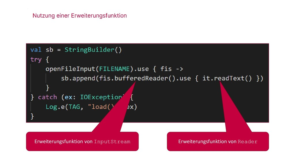 Erweiterungsfunktion von InputStream Erweiterun...