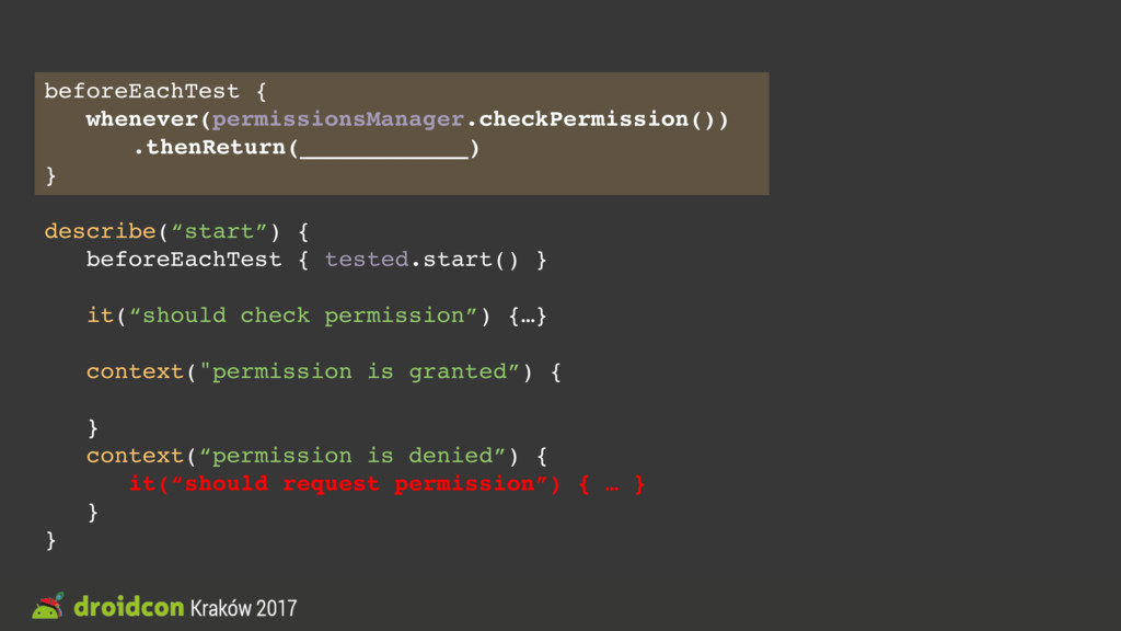 beforeEachTest { whenever(permissionsManager.ch...