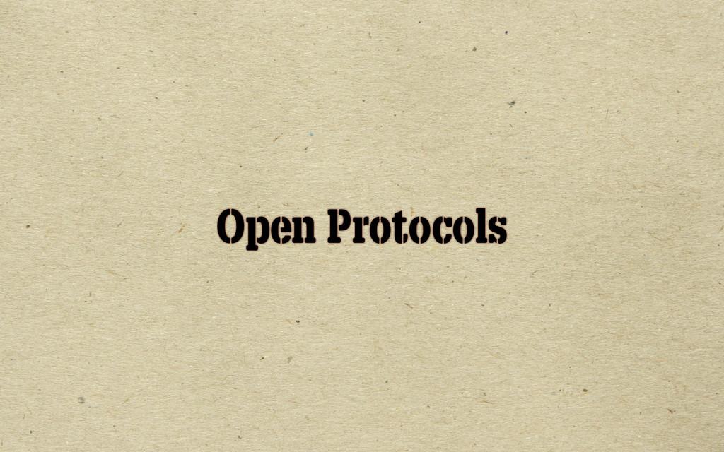 Open Protocols