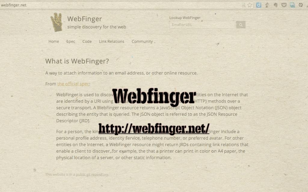 Webfinger http://webfinger.net/