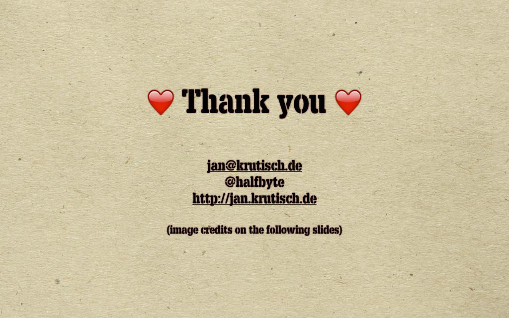 ❤️ Thank you ❤️ ! jan@krutisch.de @halfbyte htt...