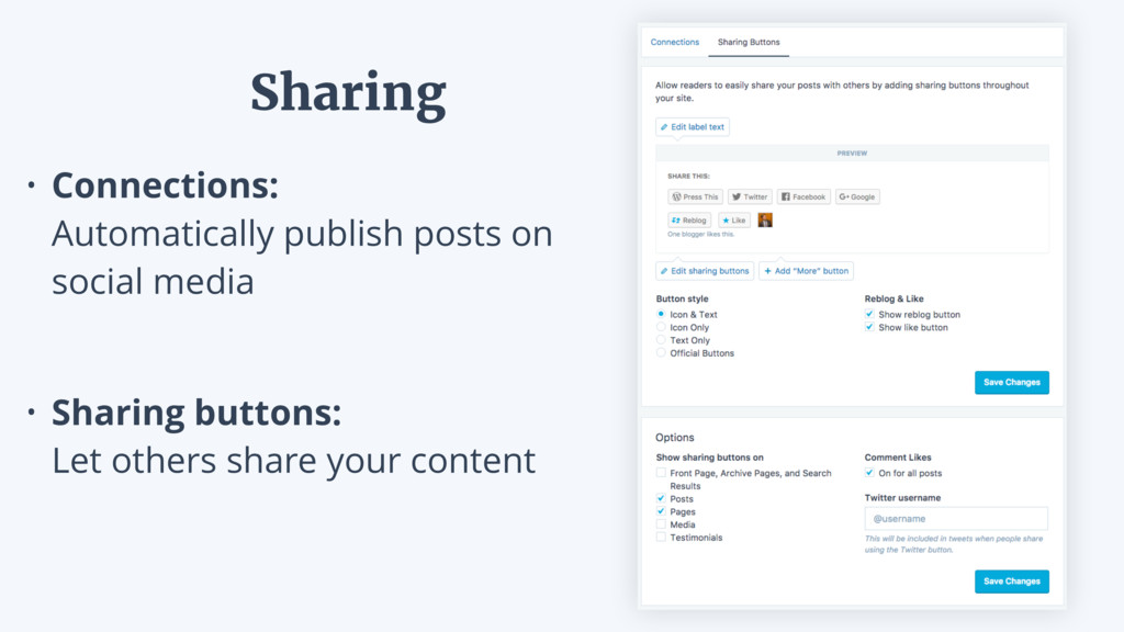 • Connections: Automatically publish posts on ...