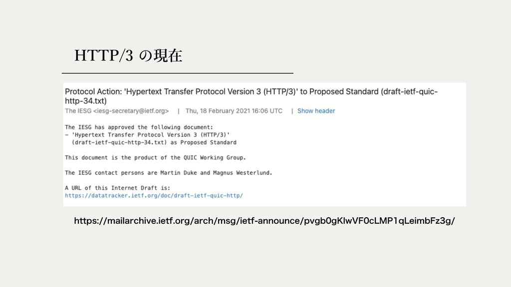 HTTP/3 現在 IUUQTNBJMBSDIJWFJFUGPSHBSDINTH...