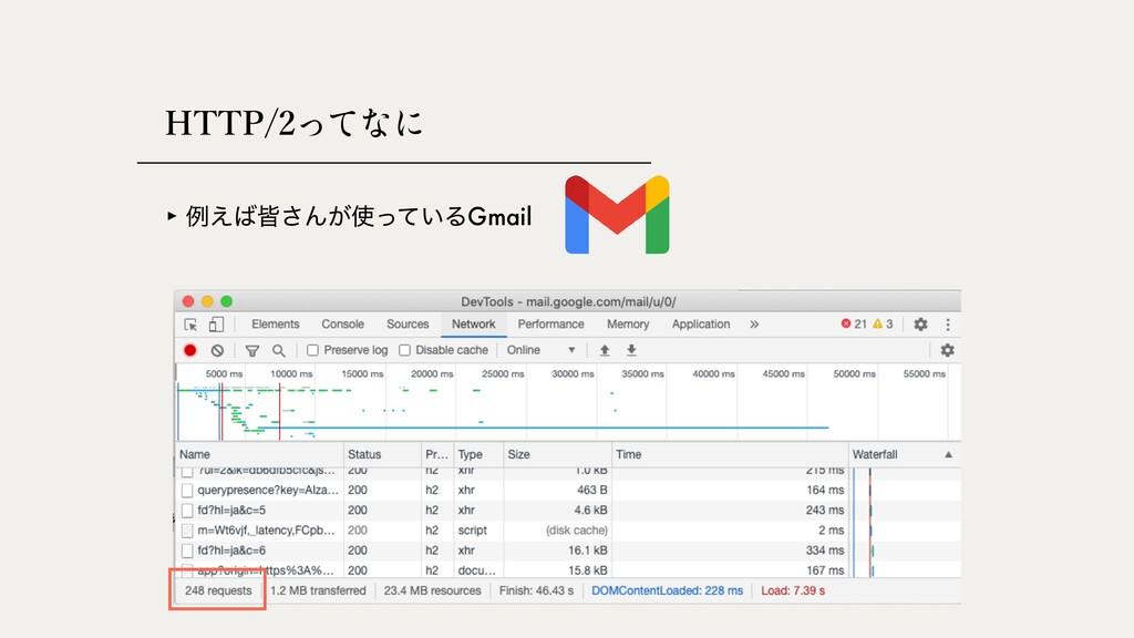 HTTP/2 ‣ ྫ͑օ͞Μ͕͍ͬͯΔGmail