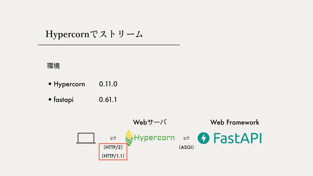 ڥ •Hypercorn •fastapi 0.61.1 0.11.0 Webαʔό Web...