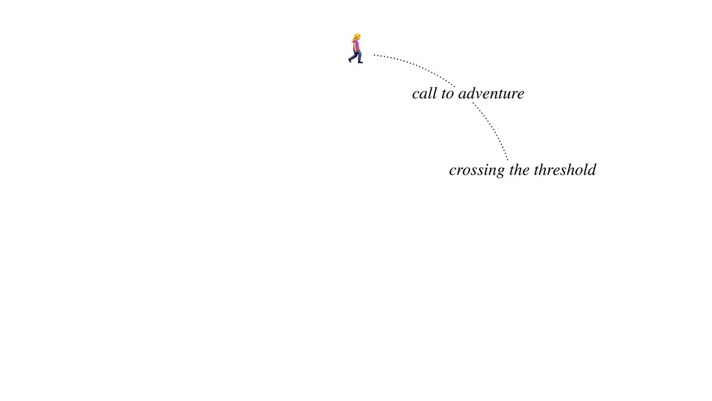 ! call to adventure crossing the threshold