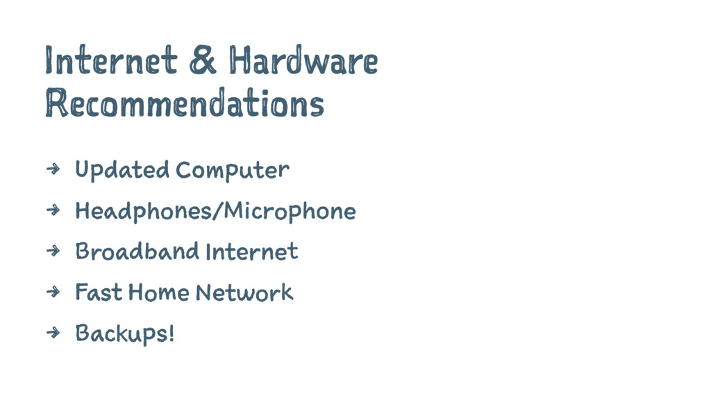 Internet & Hardware Recommendations 4 Updated C...