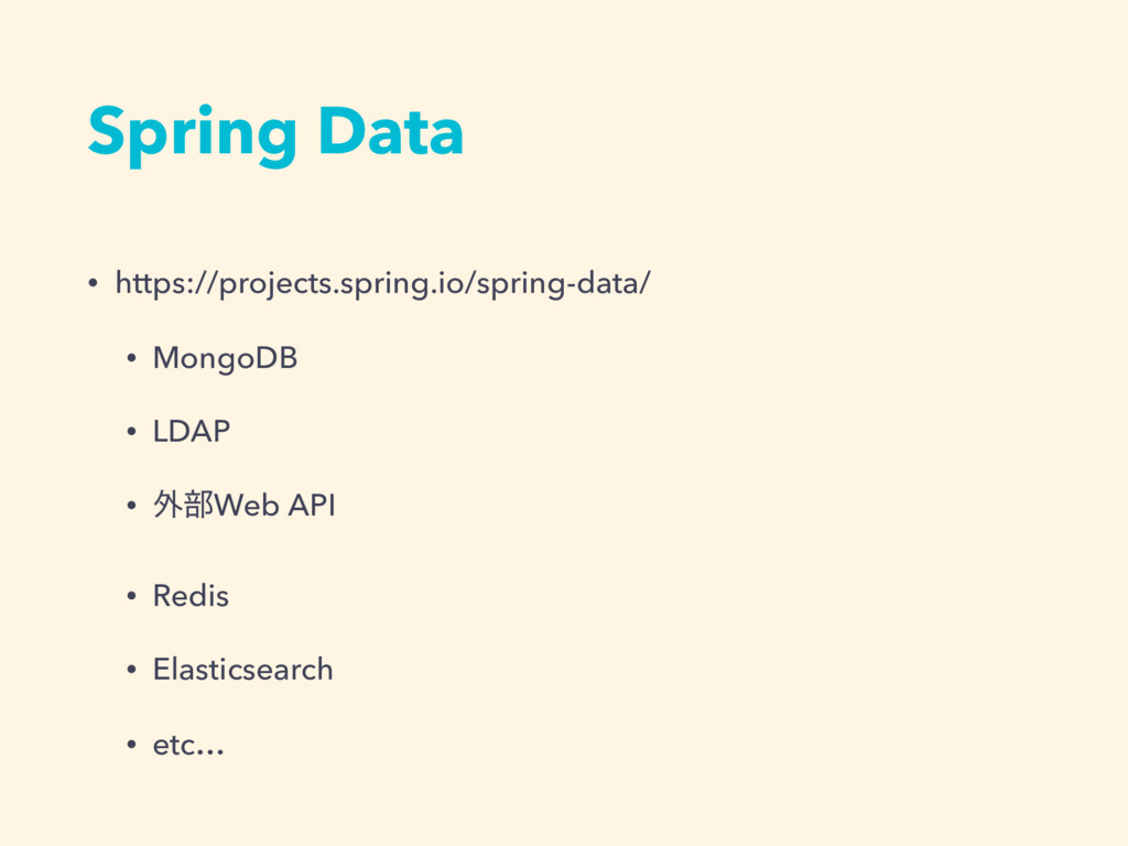 Spring Data • https://projects.spring.io/spring...