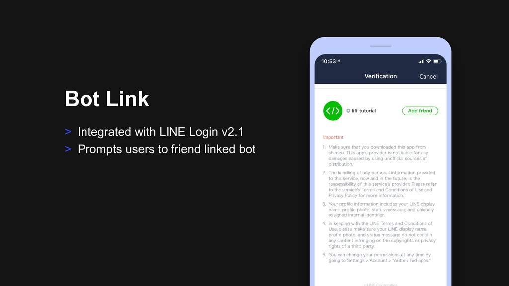 > Integrated with LINE Login v2.1 > Prompts use...