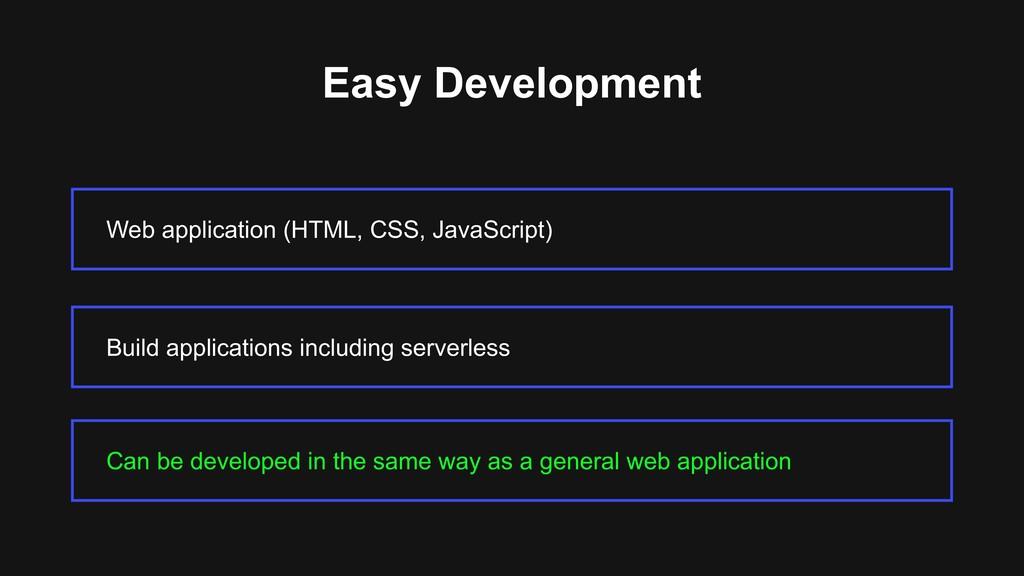 Easy Development Web application (HTML, CSS, Ja...