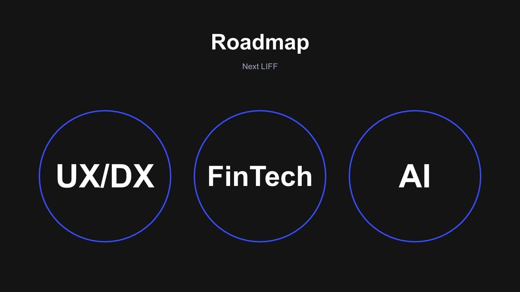 Roadmap Next LIFF FinTech UX/DX AI