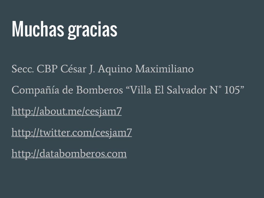 Muchas gracias Secc. CBP César J. Aquino Maximi...