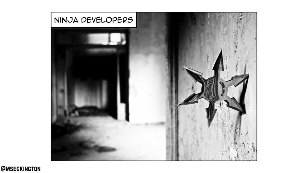 ninja developers @mseckington