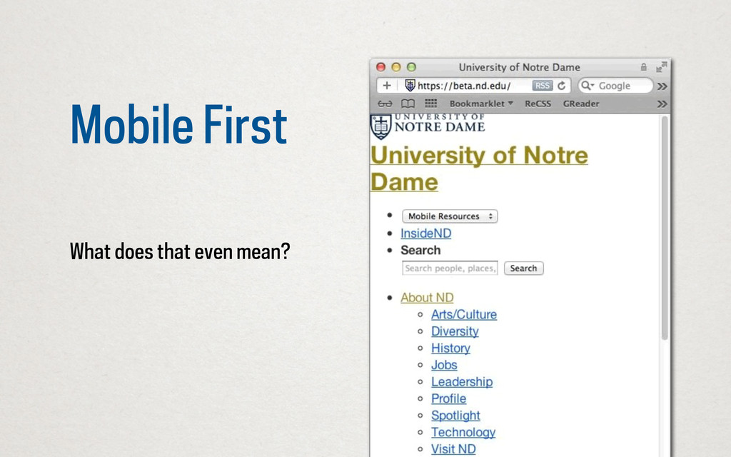 Mobile First What does that even mean?