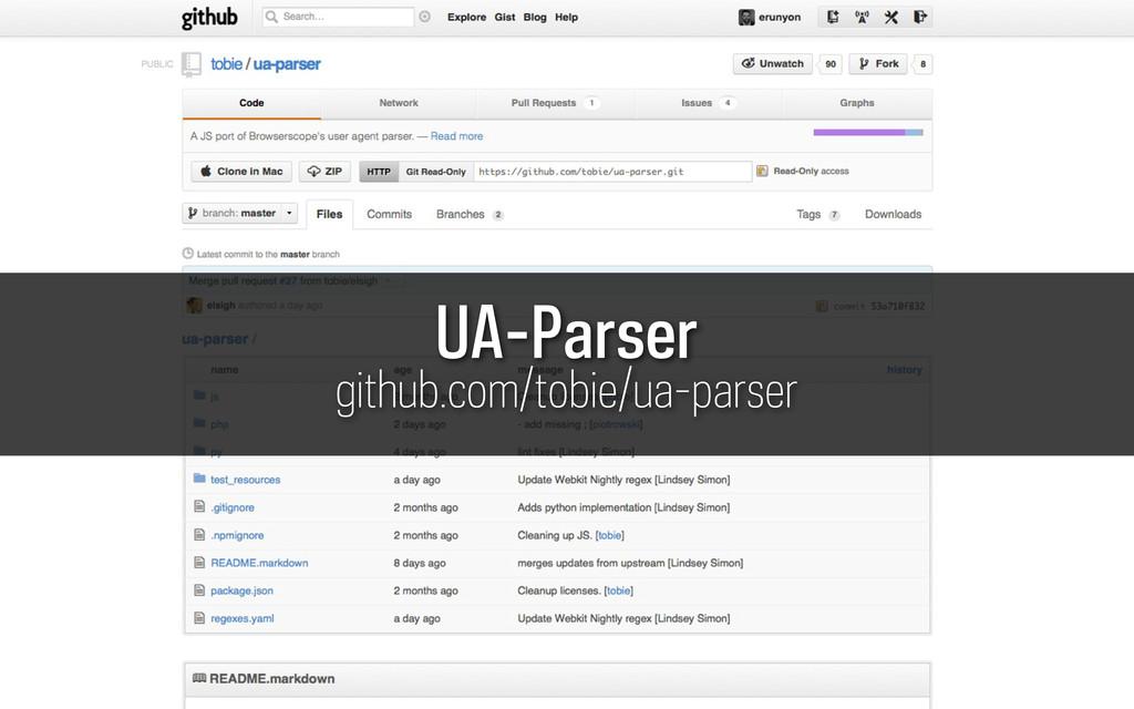 UA-Parser github.com/tobie/ua-parser