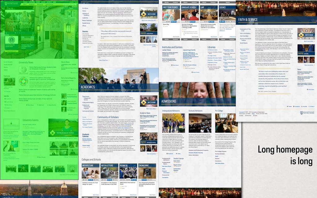 Long homepage is long