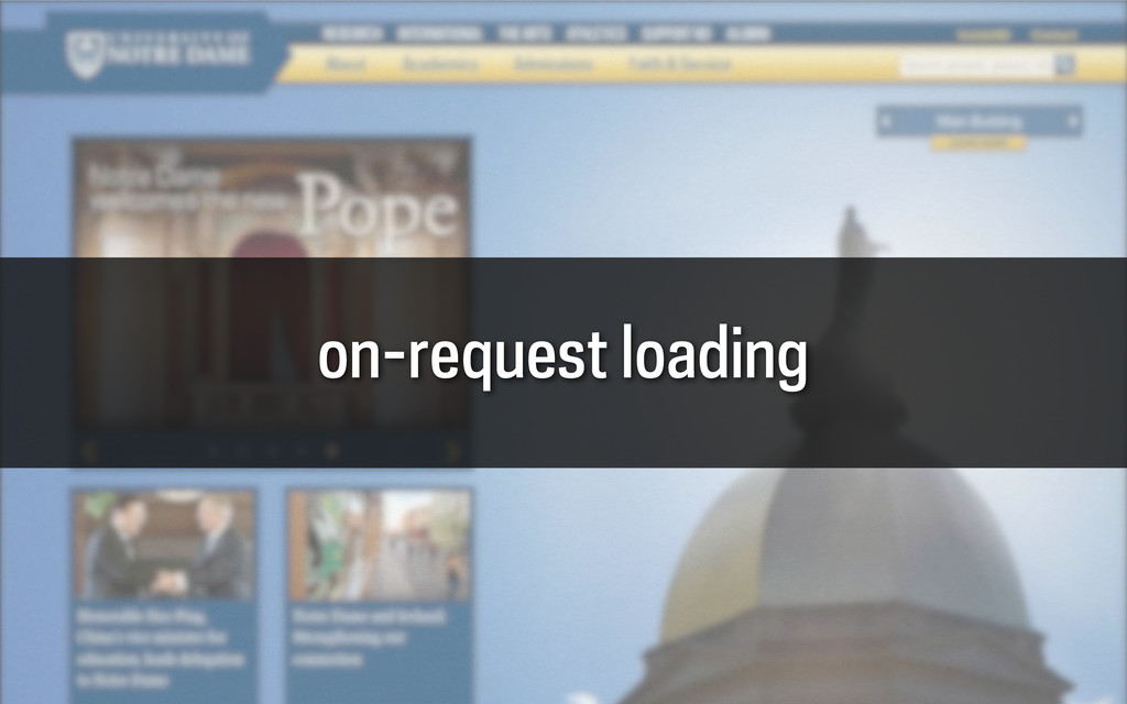 on-request loading
