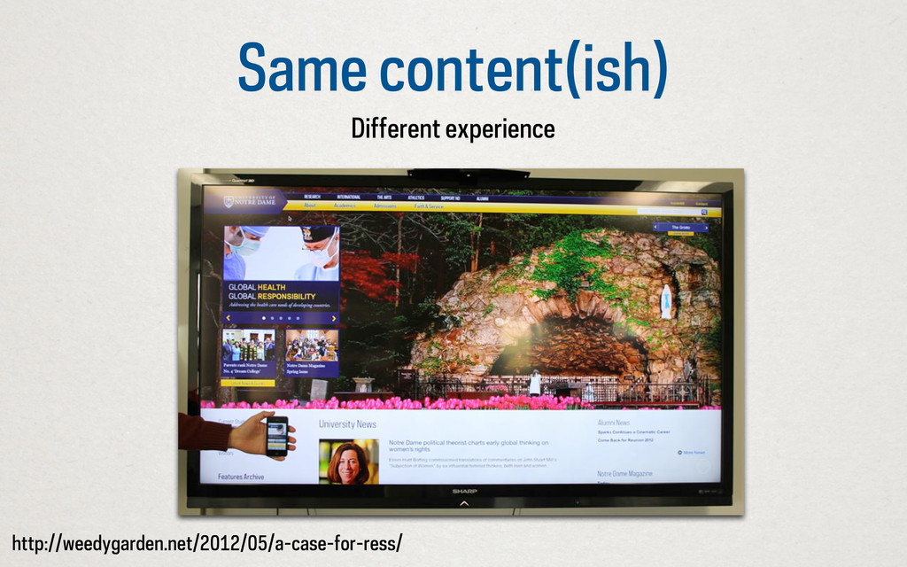 Same content(ish) Different experience http://w...