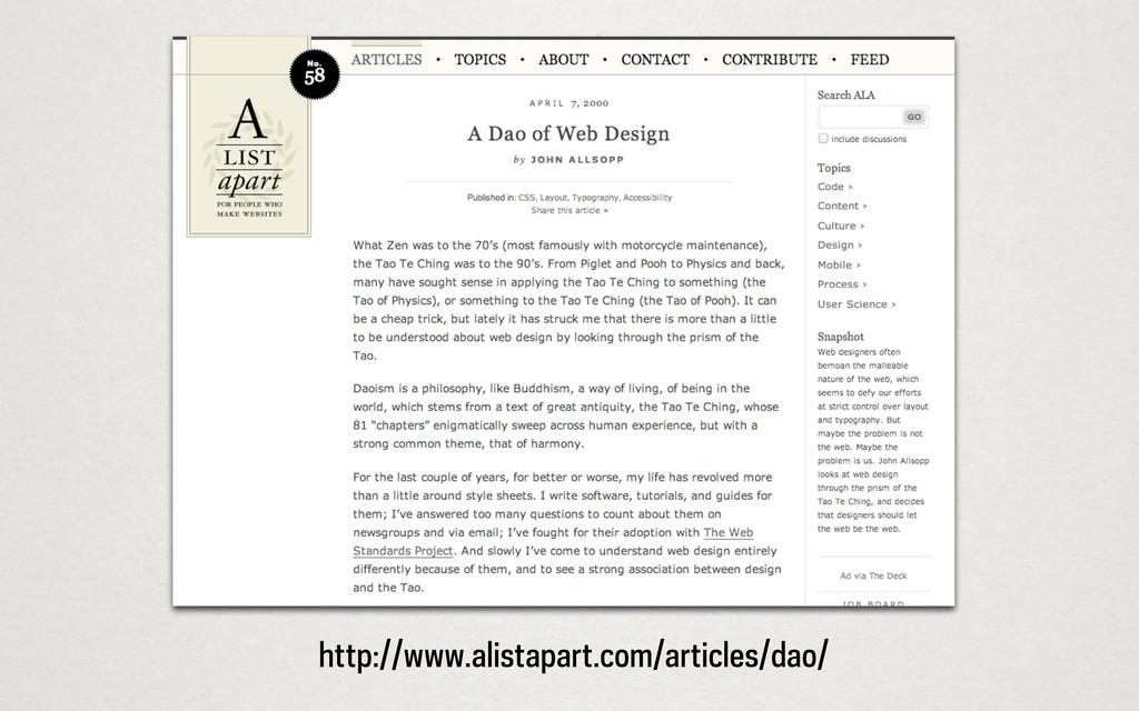 http://www.alistapart.com/articles/dao/
