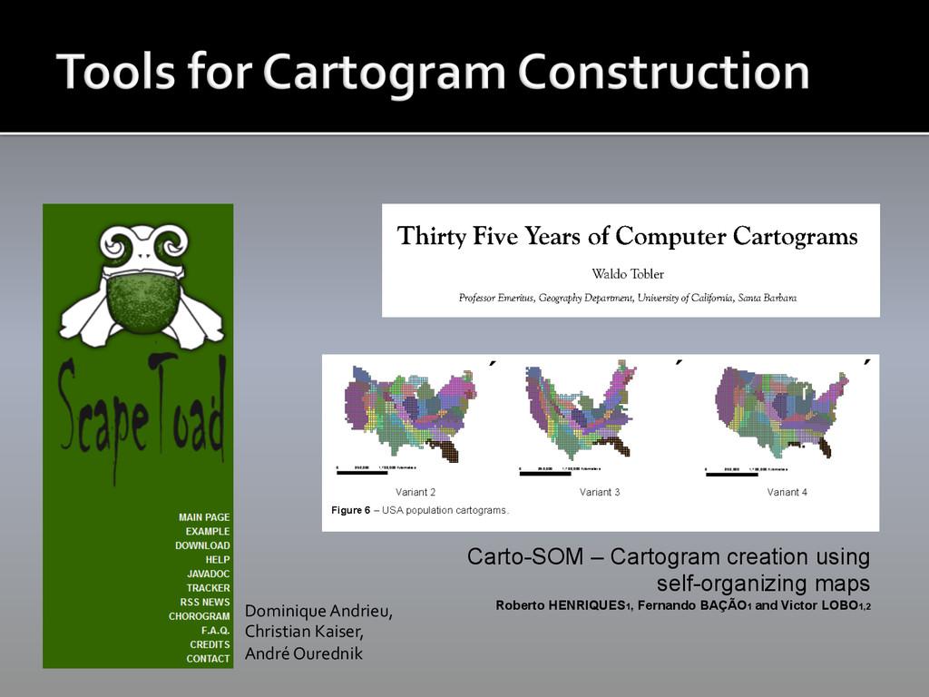 Carto-SOM – Cartogram creation using self-organ...