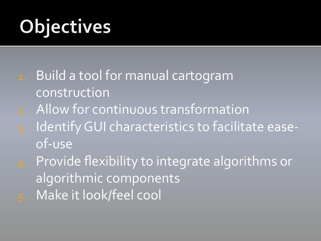 1. Build a tool for manual cart...