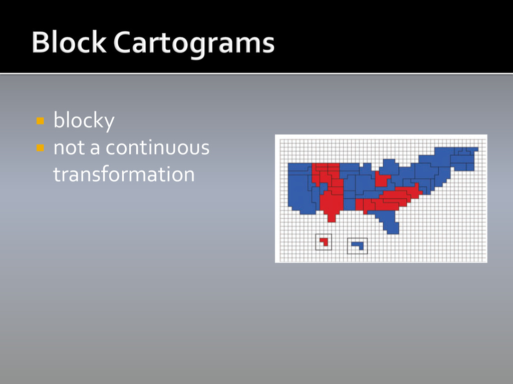 ¡ blocky  ¡ not a continuous  t...