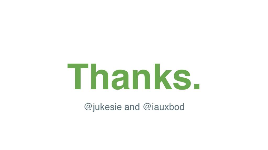 @jukesi e Thanks. @jukesie and @iauxbod