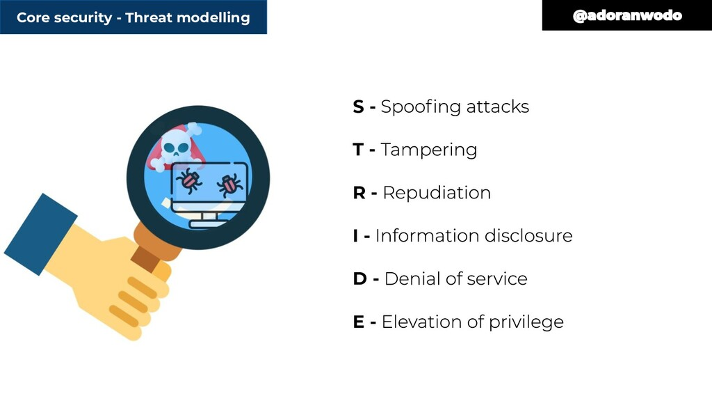 Core security - Threat modelling S - T - R - I ...